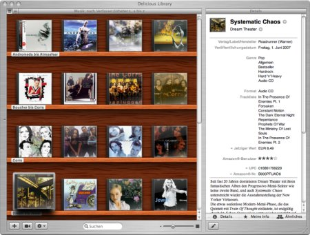 Screenshot von Delicious Library