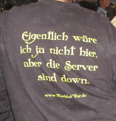 T-Shirt: Eigentlich wäre ich ja gar nicht hier, aber die Server sind down.