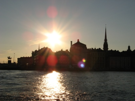 Image: Sunset over Gamla Stan