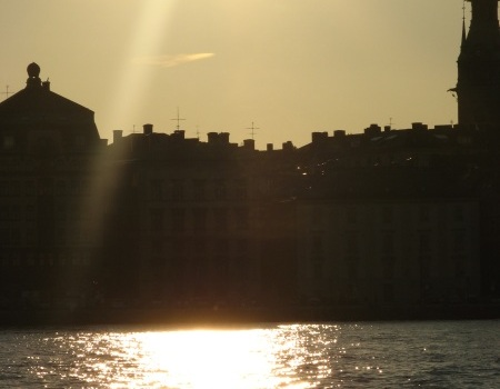 Image: Sunset in Stockholm