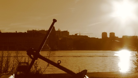 Image: Sunset, view over Gamla Stan